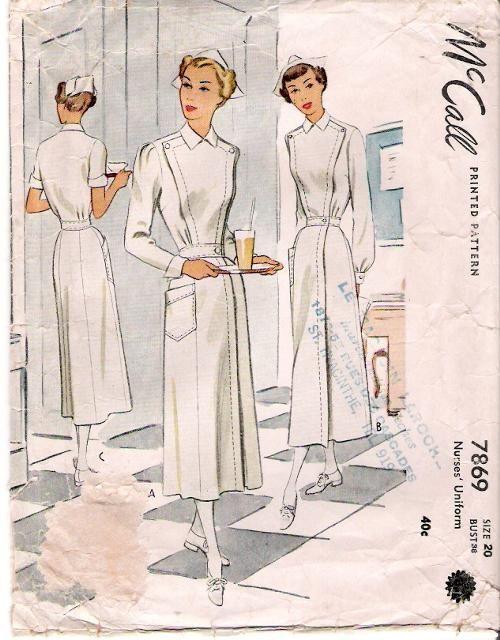 Mccall 7869 Vintage Nurse Sewing Patterns Vintage Sewing