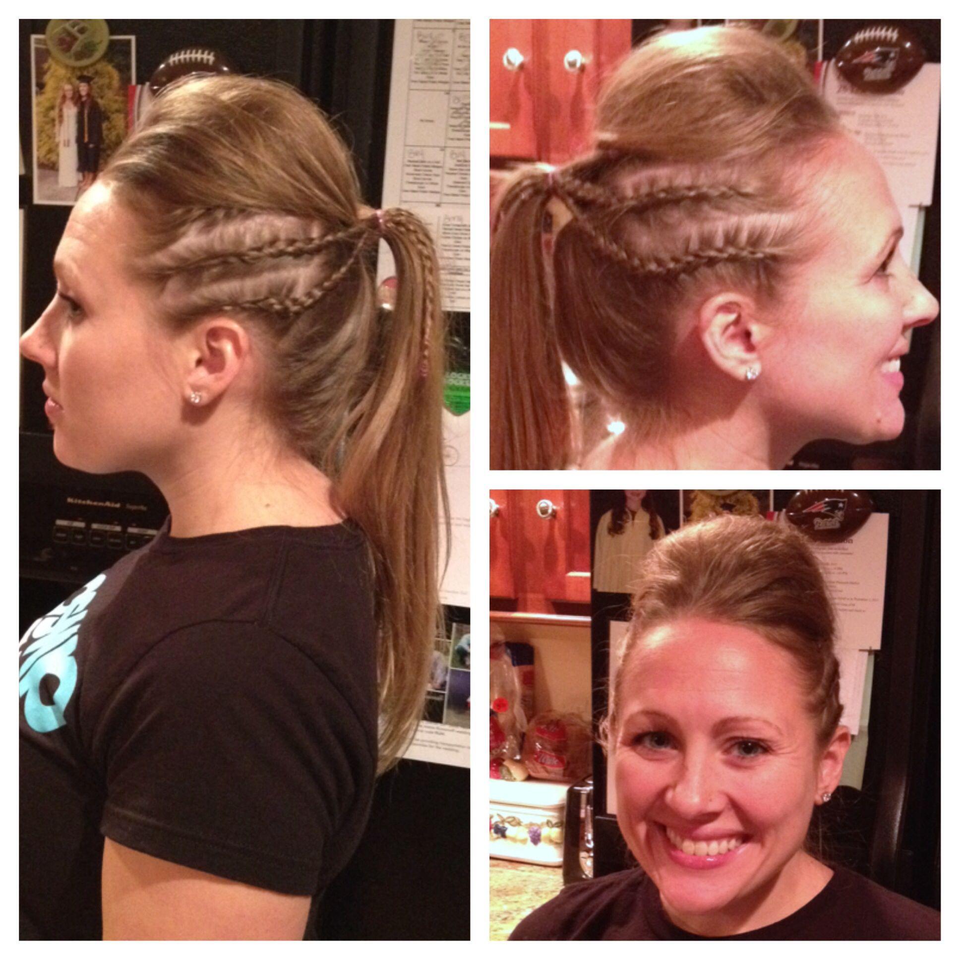rock star faux hawk ponytail with dutch braids follow my