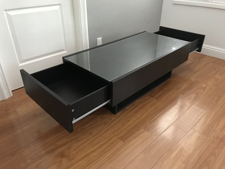 Ikea Ramvik Coffee Table With Side Storage Drawers