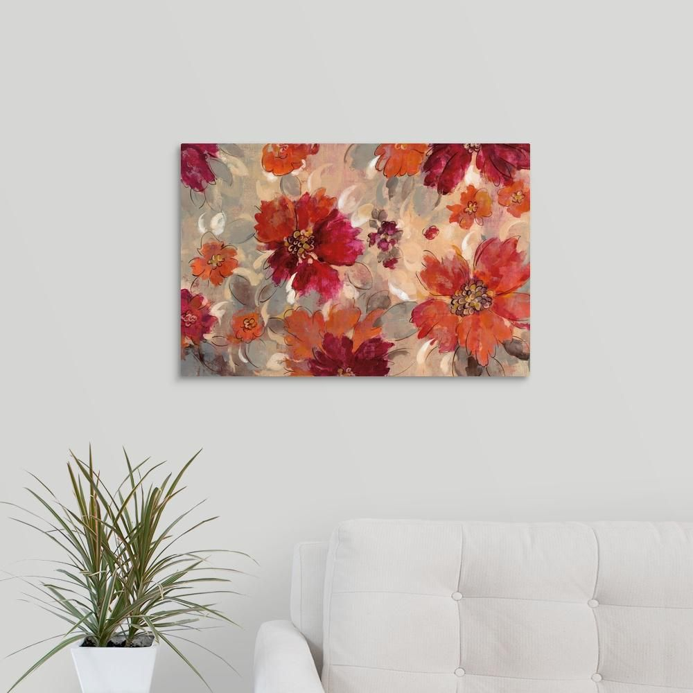 Greatbigcanvas Magenta And Coral Floral By Silvia Vassileva Canvas Wall Art 2490669 24 24x16 The Home Depot Floral Wall Art Canvases Canvas Wall Art Wall Canvas