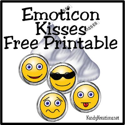 Emoticon Smiley Face Kiss Label Free Printable