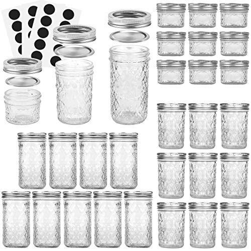 23 Stunningly Beautiful Decor Ideas For The Most: VERONES Mason Jars Canning Jars, Jelly Jars With Regular