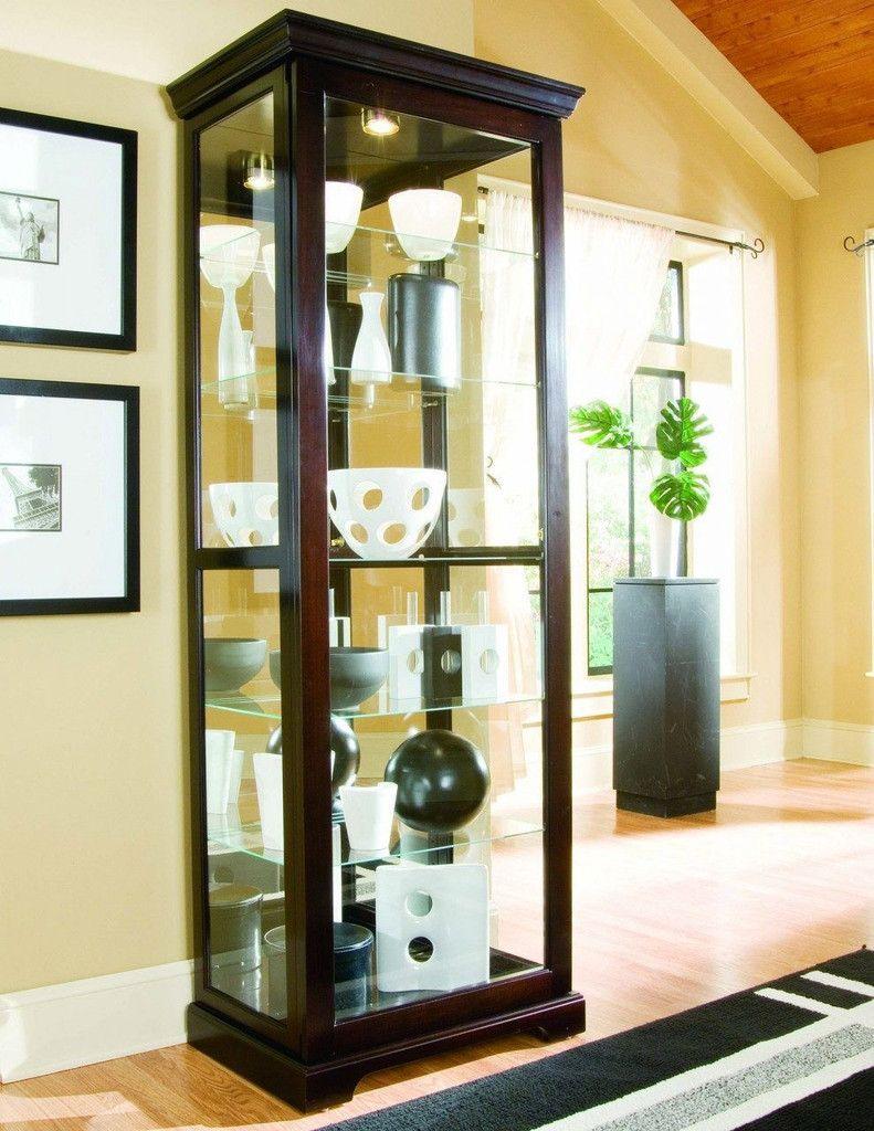 Chocolate Cherry Curio Cabinet By Pulaski Furniture