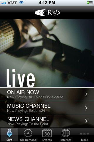 Listen Live - The KCRW Radio app streams all three KCRW