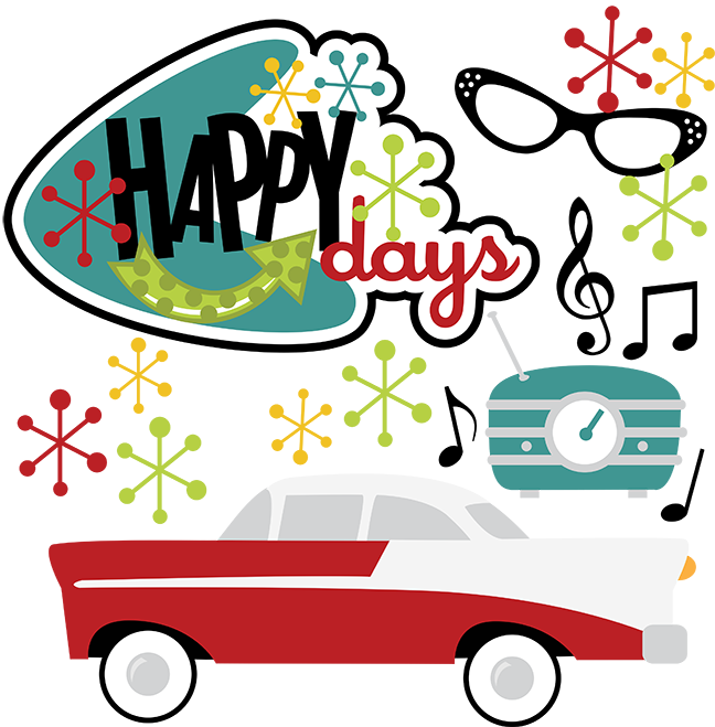 great site for svg files happy days svg 50 s svg 50 s clipart 50 s rh pinterest com 50s Guitar 50s Car Front