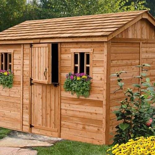 Outdoor Living Today CB128 Cabana 12 x 8 ft. Garden Shed ... on Outdoor Living Today Cabana id=63239