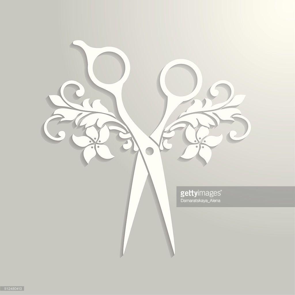 vector art hair salon logo