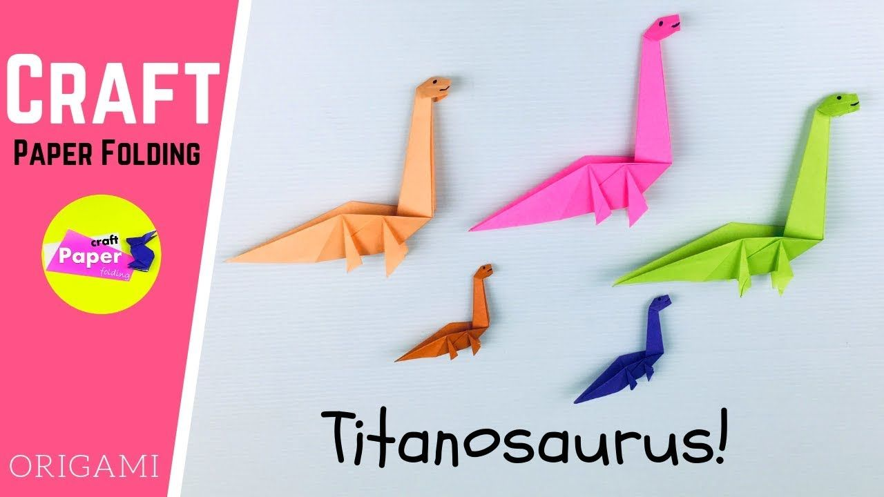Photo of Origami Dinosaur – How to Make a Paper Dinosaur Titanosaurus – Paper Dinosaur Craft