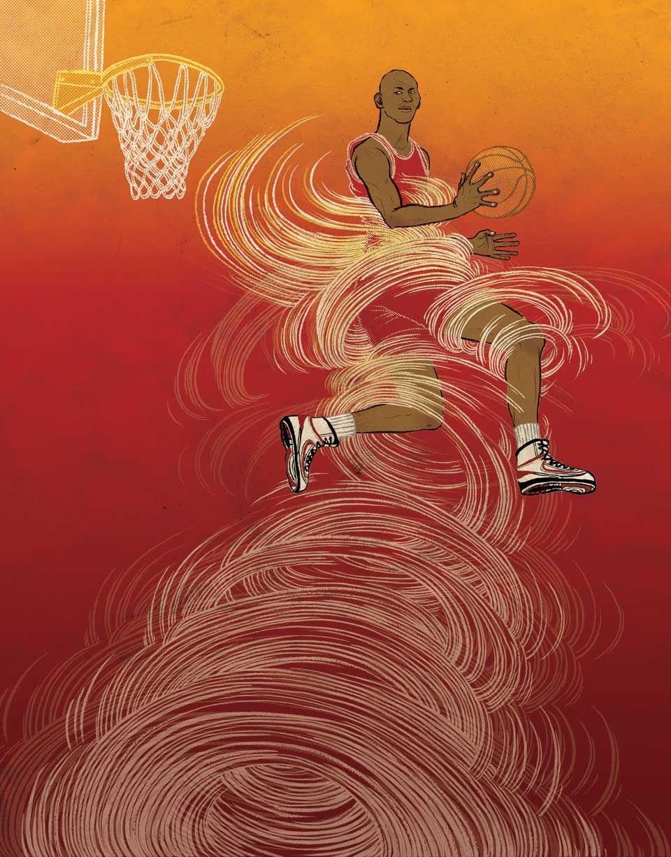 Nike poster yuko shimizu michael jordan art nike