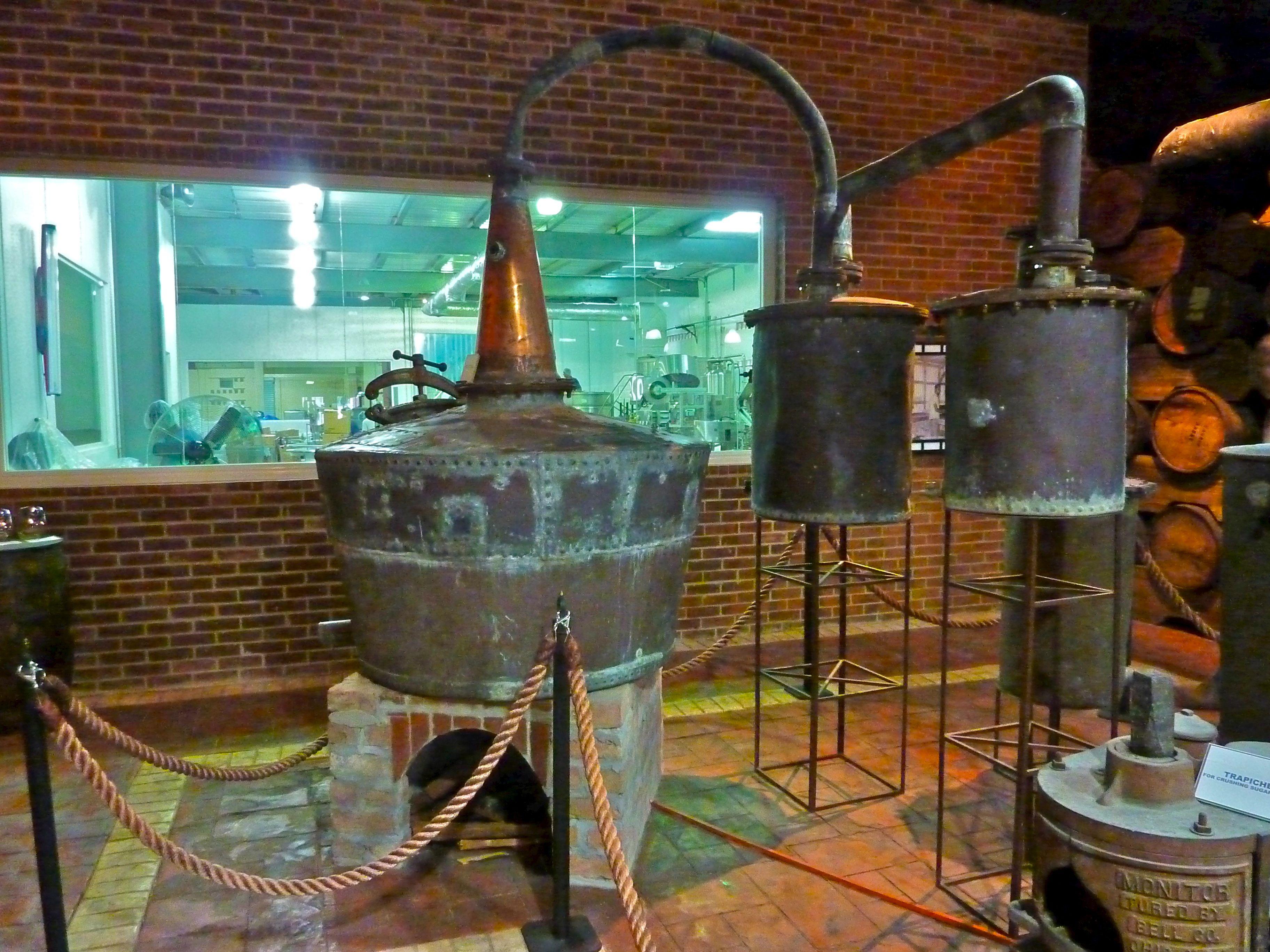 Copper Pot Still Retorts In Travellers Museum Rum Gallery