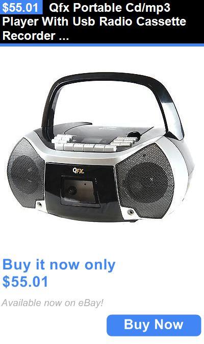 Portable stereos boomboxes qfx portable cdmp3 player with usb portable stereos boomboxes qfx portable cdmp3 player with usb radio cassette recorder sciox Choice Image