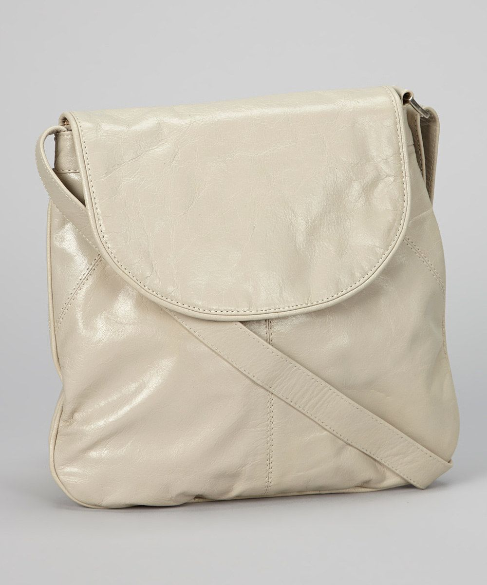 Take a look at this Silver Cloud Flap Crossbody Bag on zulily today!