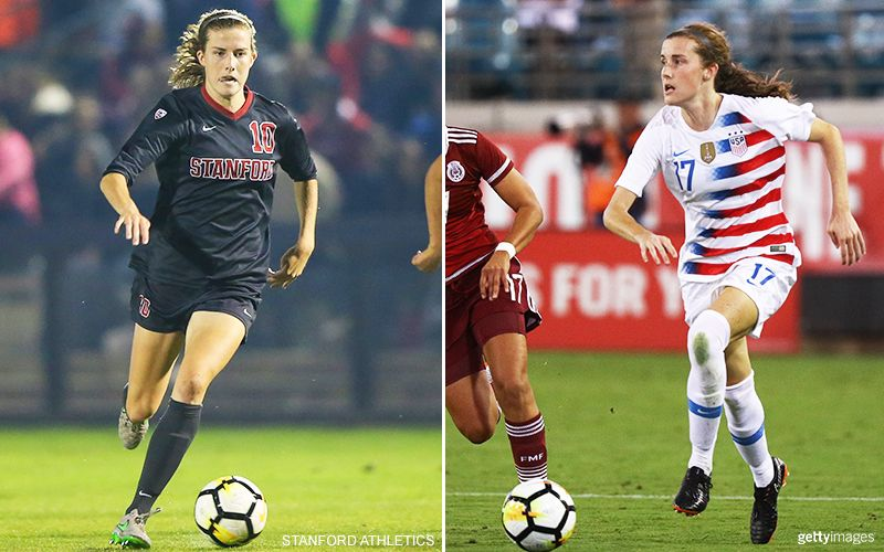 Tierna Davidson 10 Stanford University Left Photo 12 Uswnt Right National Football Teams National Football Football Team