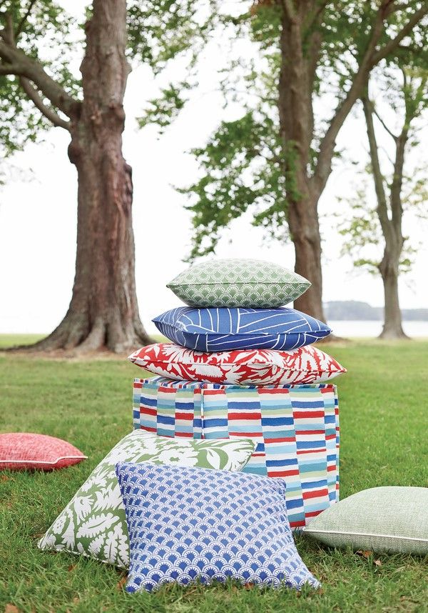 Finally, an indoor/outdoor fabric that checks all of the criteria for performance: ✅resists intense light ✅repels soil & stain ✅resists wear & tear The Festival collection features playful stripes and scallops, a botanical cactus pattern, abstract geometrics and a versatile solid woven texture with a supporting color line. #primaverainteriorfurnishings #thibaut_1886 #textiles #interiorfabric #outdoorfabric #interiortextiles #upholstery #instadesign #homedecoration #designinspiration #dreamhome