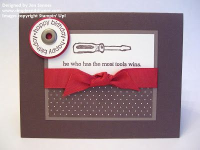 Simple & Sincere: Tool Time Birthday