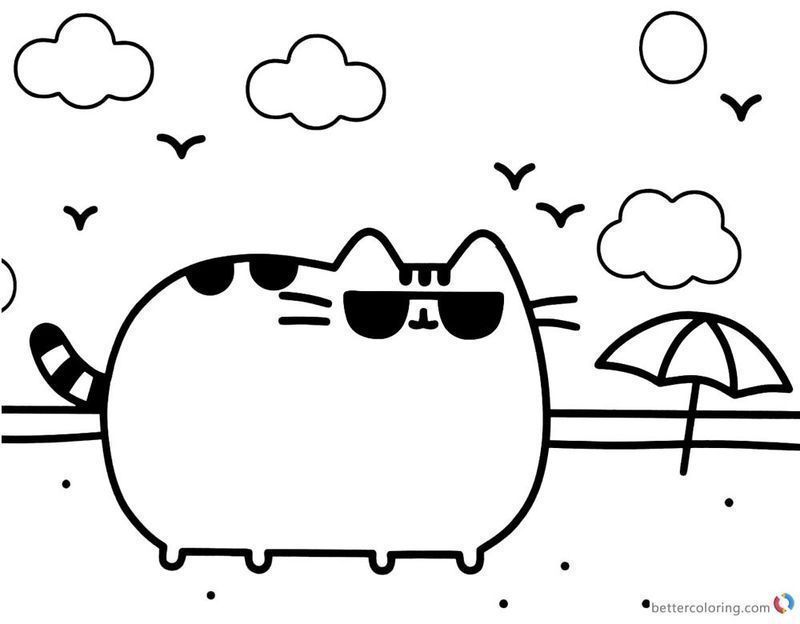 Get These Pusheen Coloring Pages And Have Fun With It ...