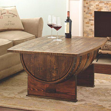 Handmade Vintage Oak Whiskey Barrel Coffee Table | Table ...