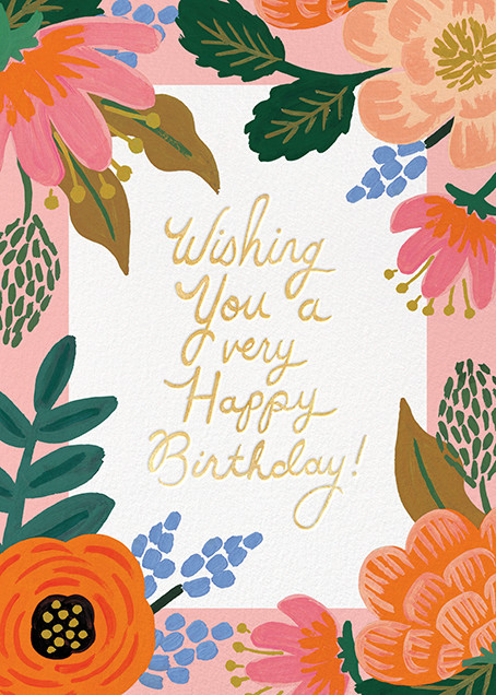 Bordeaux Floral Birthday Card Send Online Instantly Track Opens Happy Birthday Wishes Cards Birthday Wishes Cards Happy Birthday Cards