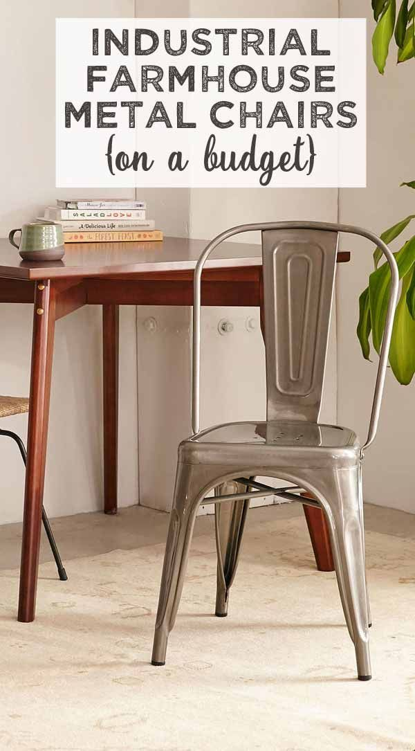 Industrial Farmhouse Style Chairs {on a budget} -   24 farmhouse style on a budget