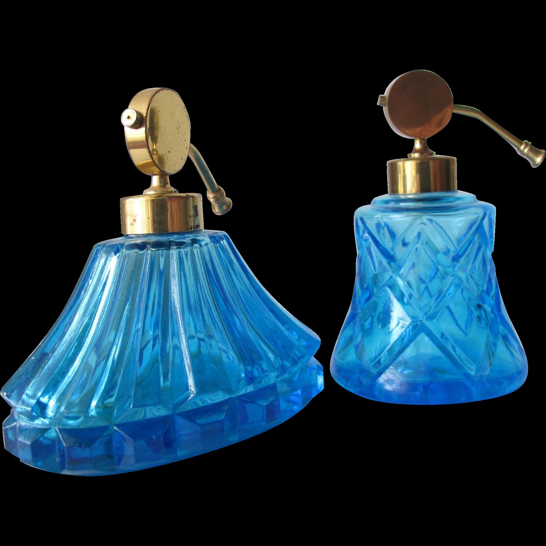Turquoise Perfume Bottle Atomizers Irice Marked