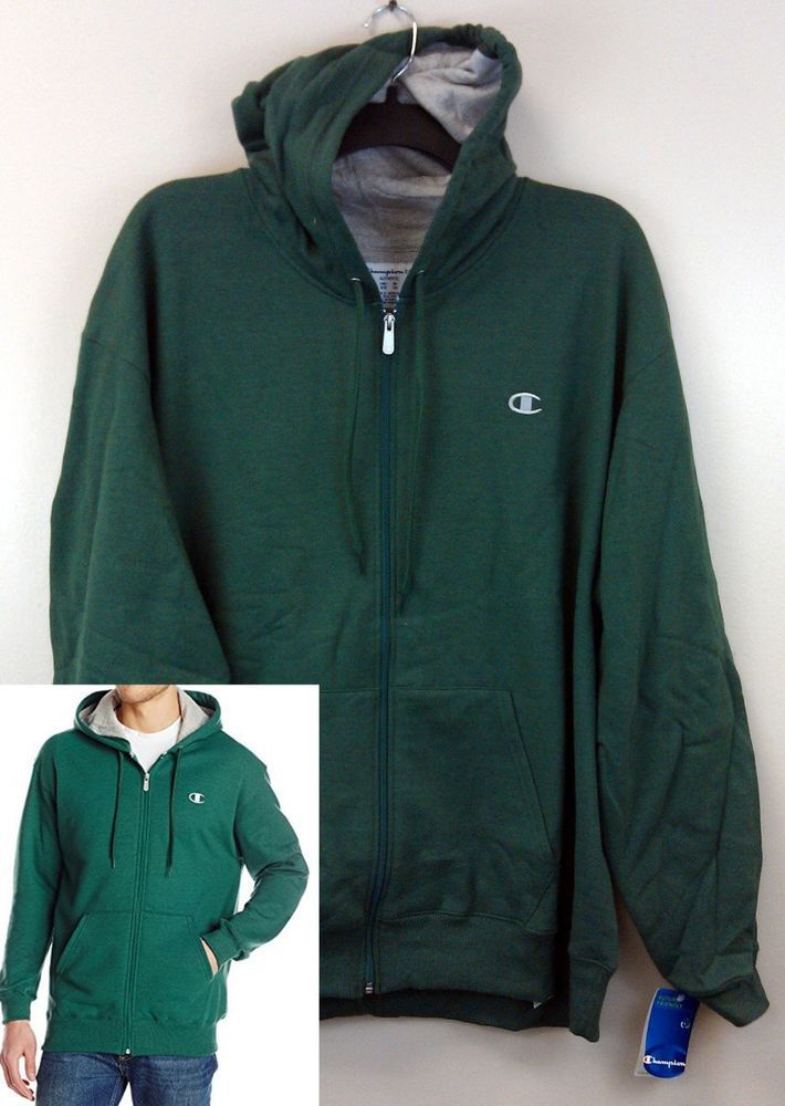 eeb5a5799 $25.99 Free Ship! Champion Men's Eco Fleece Hoodie 2XL Full Zip ...