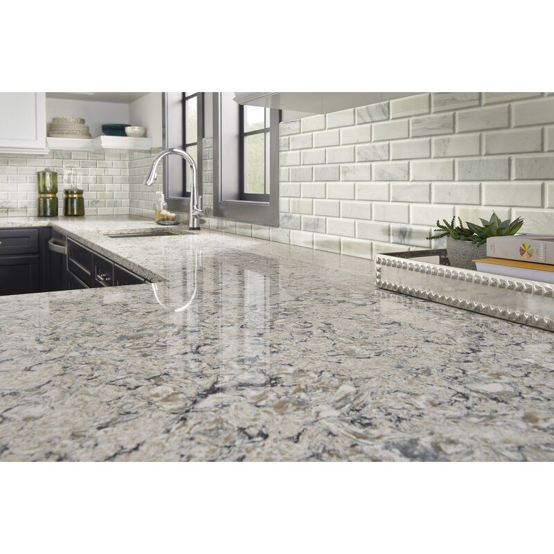 Arabescato And Beveled Honed 2 X 4 Marble Mosaic Tile In White In 2020 White Granite Countertops Backsplash For White Cabinets Grey Granite Countertops