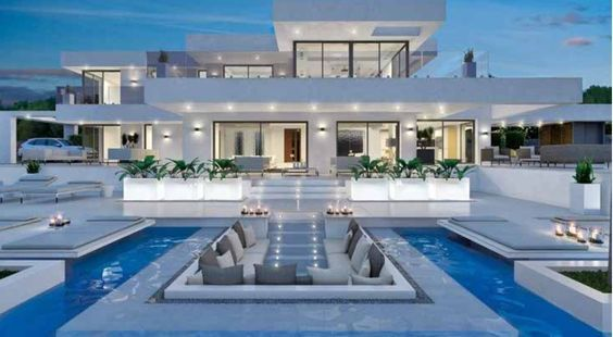 Pin by 🐼 on Dream home | Pinterest | Villa, Maison and Villa de luxe