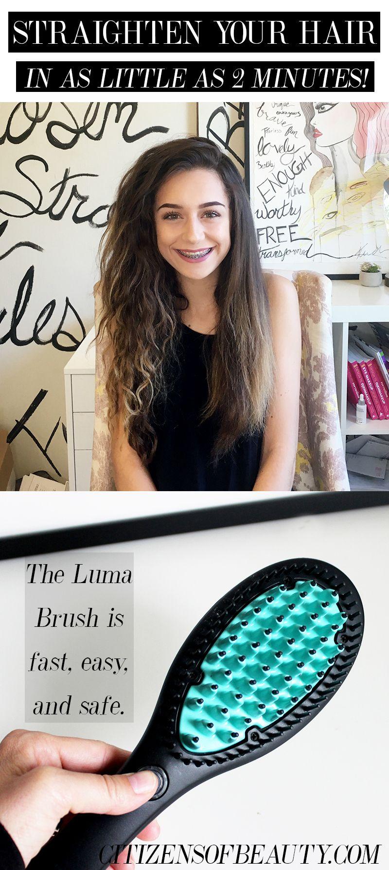 Luma brush hair straightening tool review luma brush straight