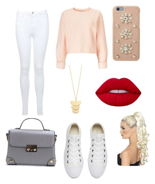 """Sin título #1042"" by jackynajera1 on Polyvore featuring Miss Selfridge, Converse, Gorjana, MICHAEL Michael Kors y Lime Crime"