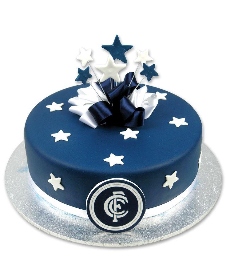 Carlton Football Club Cake Customizable To Any Afl Team