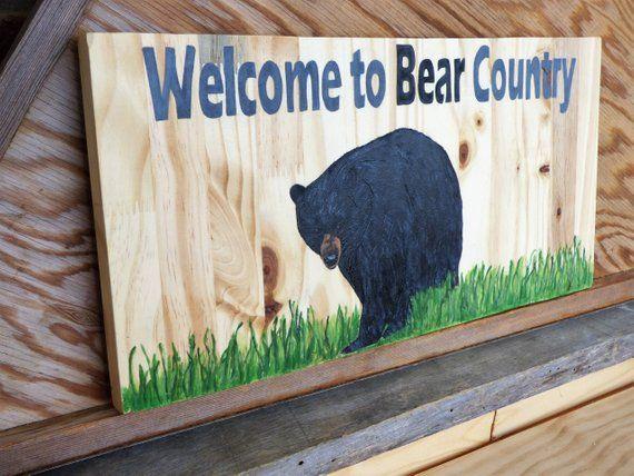 Black Bear Sign Lodge Decor