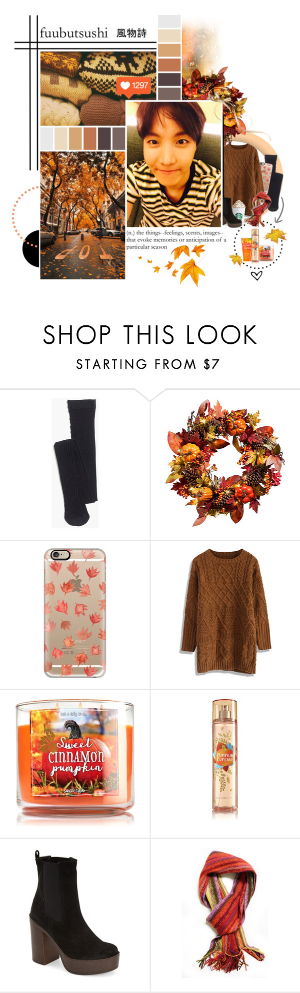 """the adventures of a white girl in fall ft. hobi"" by bangtan-life ❤ liked on Polyvore featuring Madewell, Improvements, Casetify, Chicwish and Topshop"