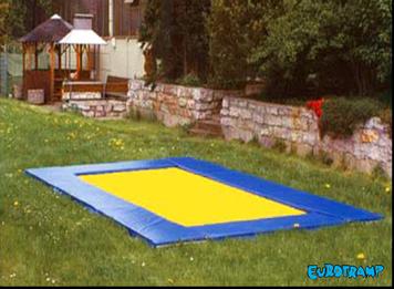 Eurotramp Grandmaster Trampolin Im Boden Eingelassen Backyard Backyard Spaces Backyard Living