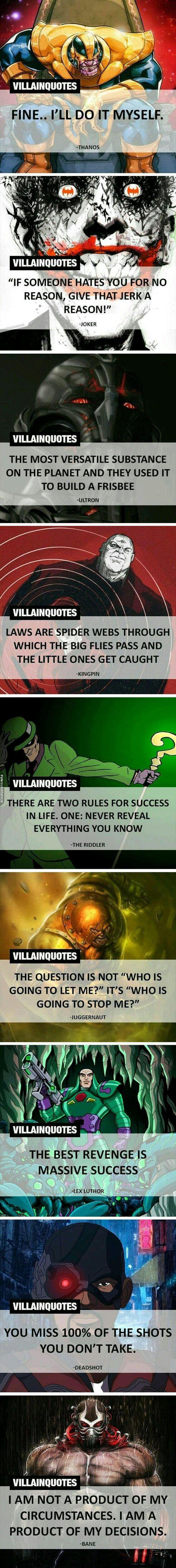 Best Supervillian Quotes Villain Quote Villain Geek Stuff