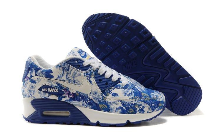 site réputé b548d c5d52 Nike Air Max 90 Femme Bleu Foncé Blanc Chaussures | Fashion ...