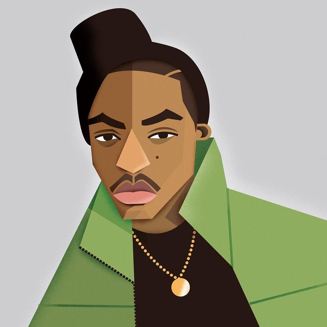Nas Nas Nasir Nasirjones Illustration Hiphop Rap