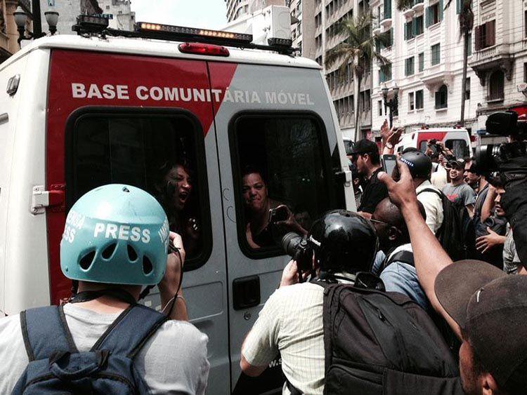 G.H.: Polícia detém 70 pessoas durante confronto em SP