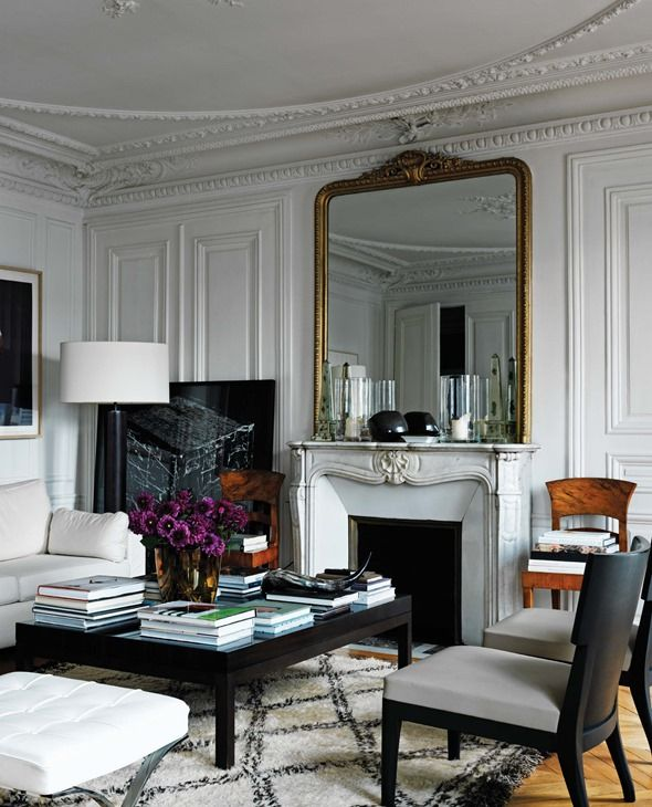 amazing french paris decor living rooms | parisian room decor/images | ... With Parisian Objects And ...