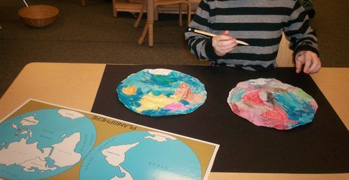 Watercolor maps of the world map crafts montessori and geography watercolor maps of the world gumiabroncs Image collections