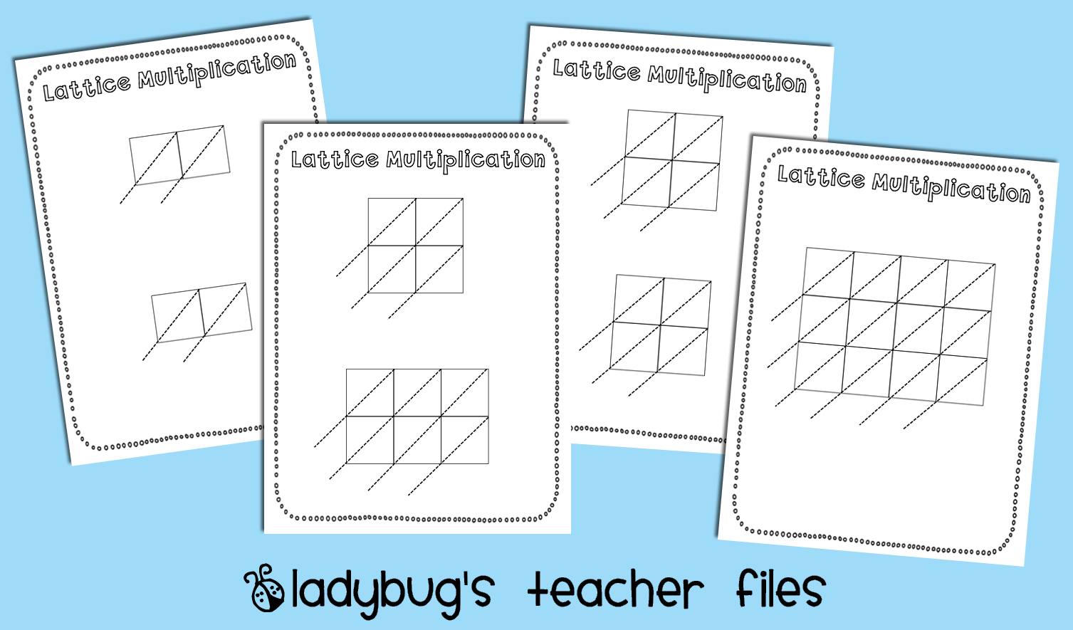 Lattice Math Graphic Organizers Printable With Images
