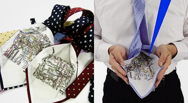 Business tie features secret subway map