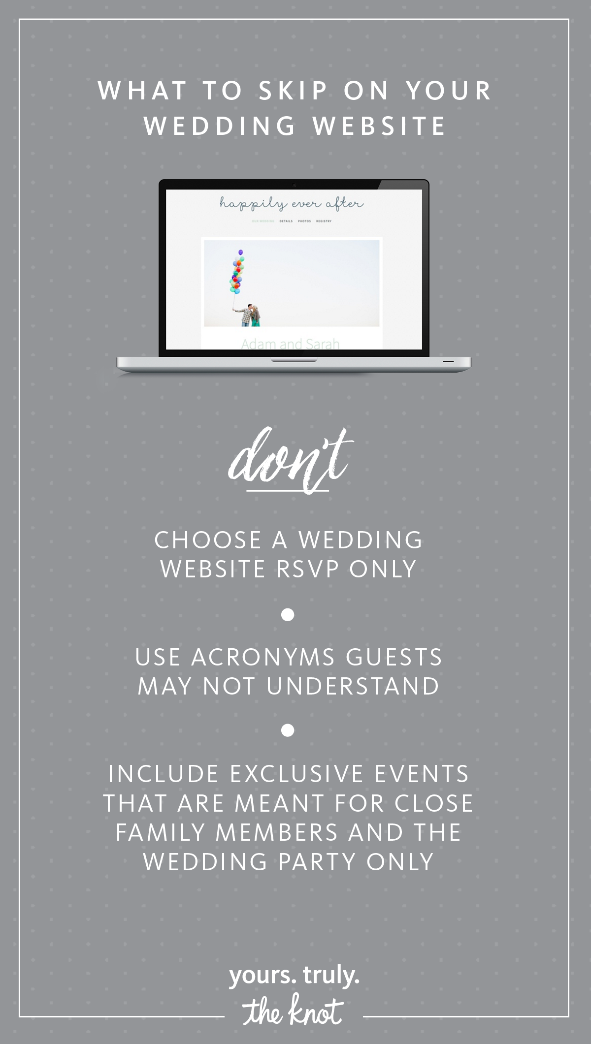 7 Wedding Website Dos and Don'ts Wedding website