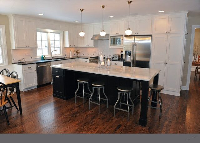 Lshaped kitchen with island Dream Home Pinterest Kitchens