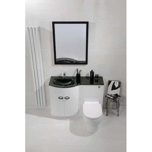 3-Piece Bathroom Furniture Set Cassellie Orientation: Left ...