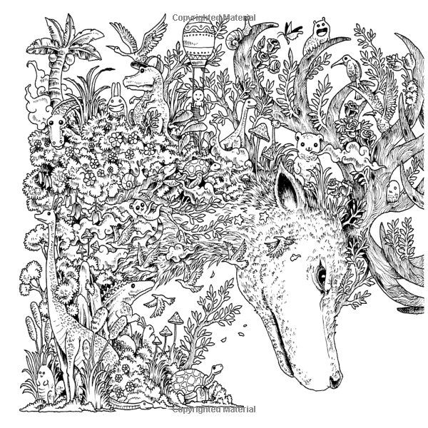 Animorphia an extreme coloring and search challenge for Extreme coloring pages