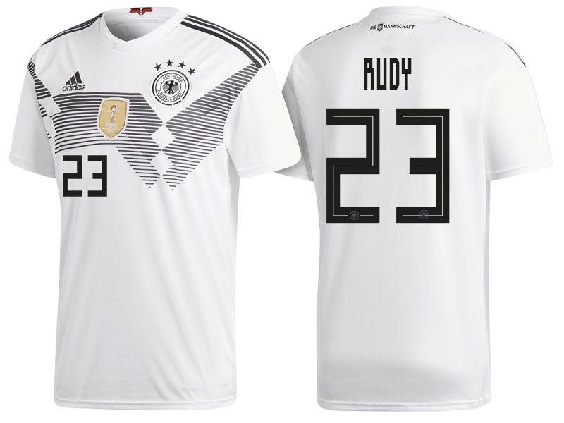 Germany 2018 World Cup Home Jersey Sebastian Rudy Futebol