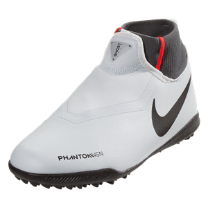 quality design abb55 925c0 Nike Junior Phantom Vision Academy DF TF Artificial Turf Soccer Shoe Pure  Platinum Black Light Crimson Wolf Grey - A1013263001