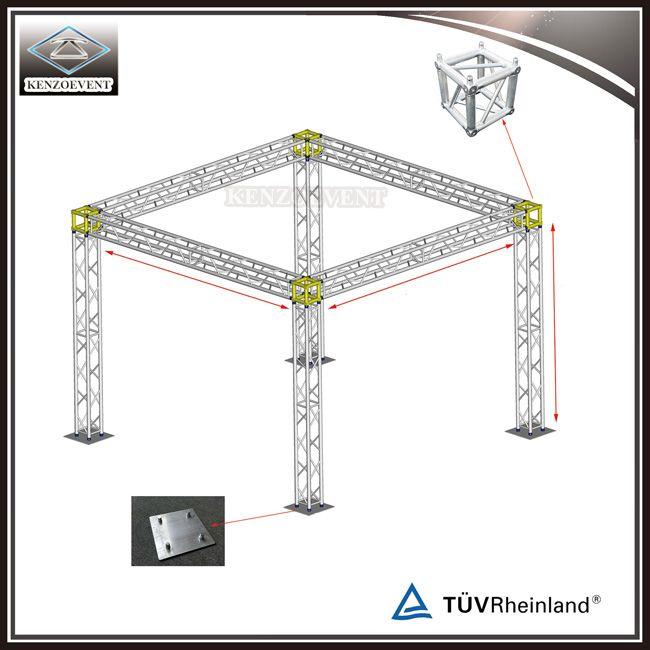 Exhibition Stand Truss : Pillars exhibition stand aluminum mini truss
