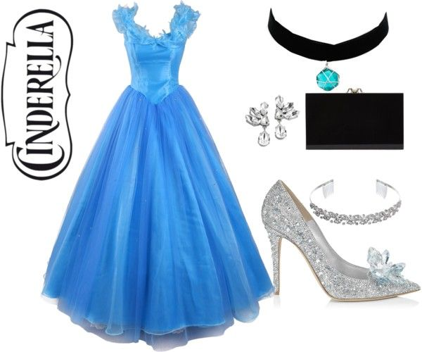 Cinderella by emilygsmith1996 on Polyvore featuring Jimmy Choo, Charlotte Olympia, Topshop and Crystal Allure