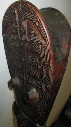 Club; Polynesian, Marquesas Islands, Uu Uu War Club, Carved Geometrics, 4 ft.